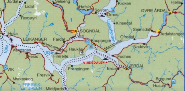 flåm kart Vindedal Camping og Hytter flåm kart